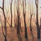 Barren. Acrylic on canvas, 2010.