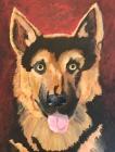 German Shepherd. Acrylic on canvas, 2009.