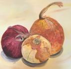Onions. Acrylic on canvas, 2008.