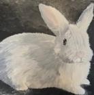 White Bunny. Acrylic on canvas, 2010.